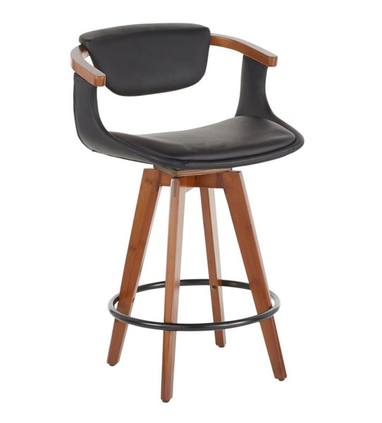 Lumisource Oracle Black Counter Stool LUMI-B26-ORACLE-WLBK