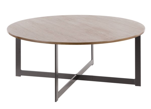 Lumisource Cosmo Walnut Coffee Table LUMI-T15-CSMO-BK-WL