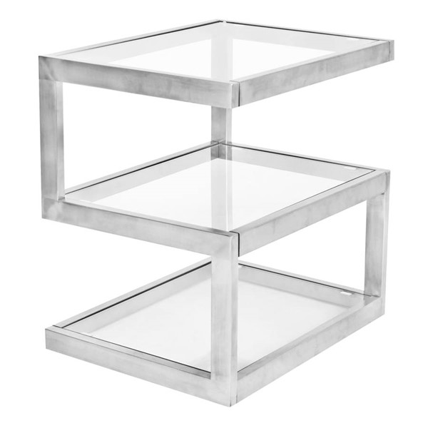 Lumisource Clear 5S End Table LUMI-TB-5S-SS