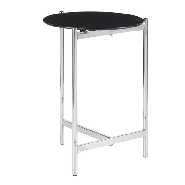 Lumisource Chloe Chrome Black Side Table LUMI-TB-CHLOE-BK