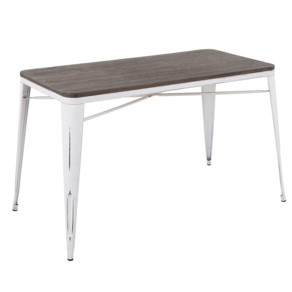 Lumisource Oregon White Espresso Utility Table LUMI-TB-OR2448-VW-E
