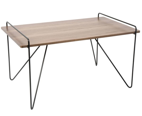 Lumisource Loft Walnut Black Coffee Table LUMI-TBC-LOFT-WL-BK