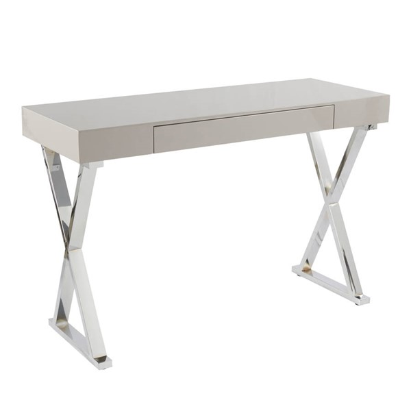 Lumisource Luster Grey Console Table LUMI-TBC-LUSTER-GY