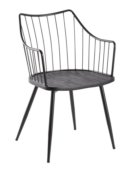 Lumisource Winston Black Wood Chair LUMI-CH-WINSTON-BKBK