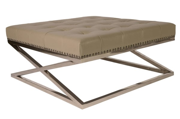Lazzaro Peyton Tan Tufted Cocktail Table LZRO-1303N-41-3372