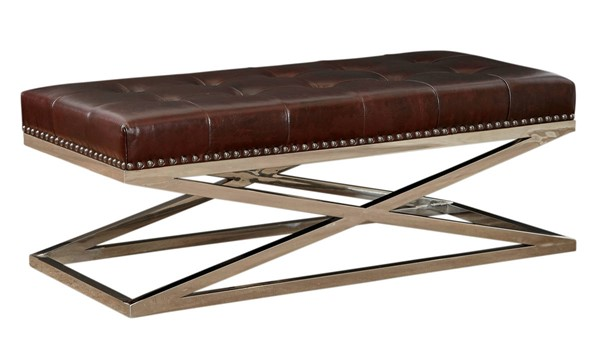 Lazzaro Peyton Dark Chocolate Rectangular Tufted Cocktail Table LZRO-1390-41-9012G