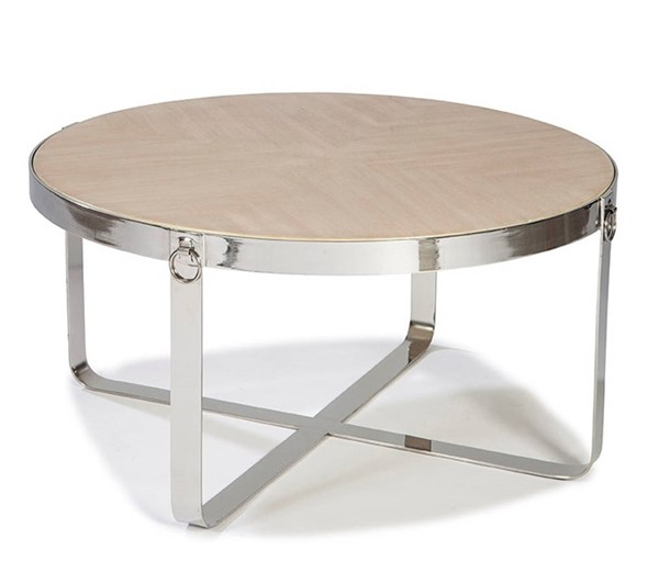 Lazzaro Silver Round Cocktail Table LZRO-1621-41