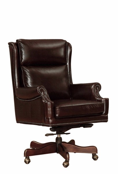 Lazzaro Wainwright Cranberry Office Chair LZRO-3992-54-9012B
