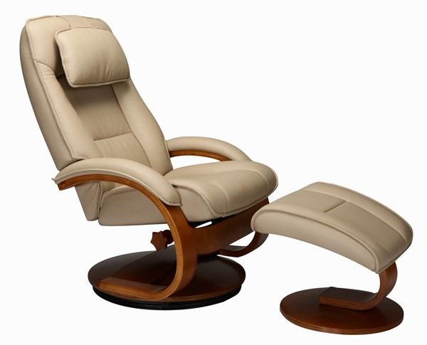 Mac Motion Relax-R Brampton Tan Leather Recliner and Ottoman Set MAC-BRAMPTON052032