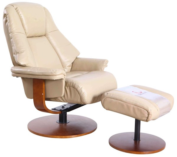 Mac Motion Relax-R Lindley Tan Air Leather Recliner and Ottoman Set MAC-LINDLEY780530