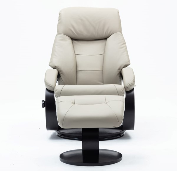 Mac Motion Relax R Putty Leather Montreal Recliner and Ottoman MAC-M058-042625
