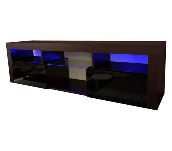 Meble Furniture Bari 160 Black Wall Mounted Floating 63 Inch TV Stand MBL-BARI160BLACK