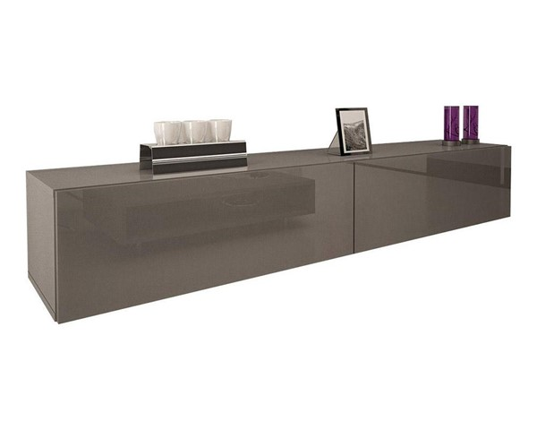 Meble Furniture Berno Gray Wall Mounted Floating 71 Inch TV Stand MBL-BERNOGRAY