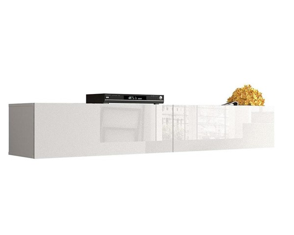Meble Furniture Berno White Wall Mounted Floating 71 Inch TV Stand MBL-BERNOWHITE