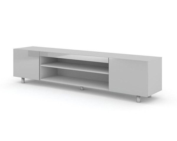 Meble Furniture Boca Light Gray 75 Inch TV Stand MBL-BOCALIGHT-GRAY