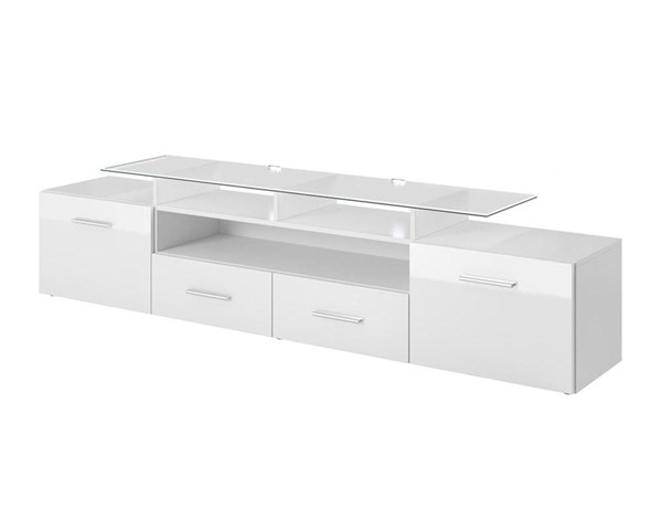 Meble Furniture Evora White 76 Inch TV Stand MBL-EVORAWHITE