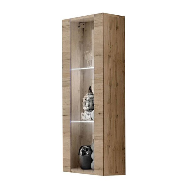 Meble Furniture Fly Type 21 Oak Wall Mounted Floating Bookcase Cabinet MBL-FLY21OAK