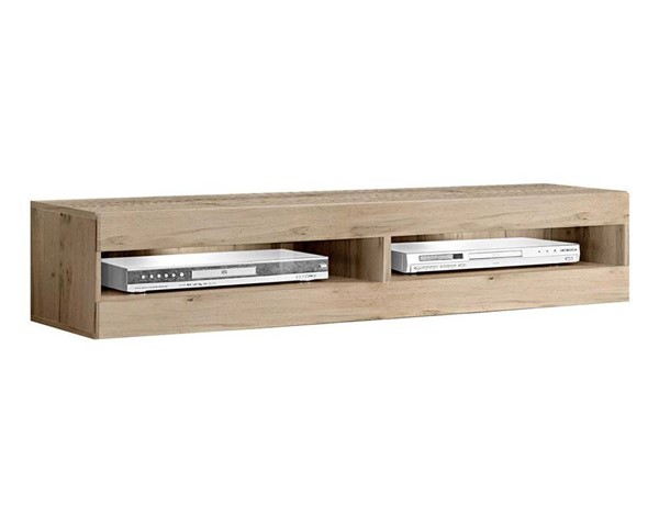 Meble Furniture Fly Type 34 Oak Wall Mounted Floating 63 Inch TV Stand MBL-FLY34OAK1X