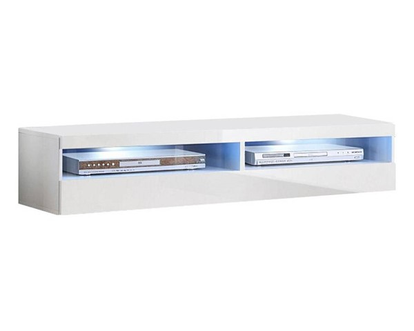 Meble Furniture Fly Type 35 White Wall Mounted Floating 63 Inch TV Stand MBL-FLY35WHITE1X