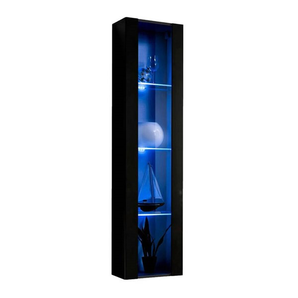 Meble Furniture Fly Type 41 Black Wall Mounted Floating Bookcase Cabinets MBL-FLY41-BC-VAR