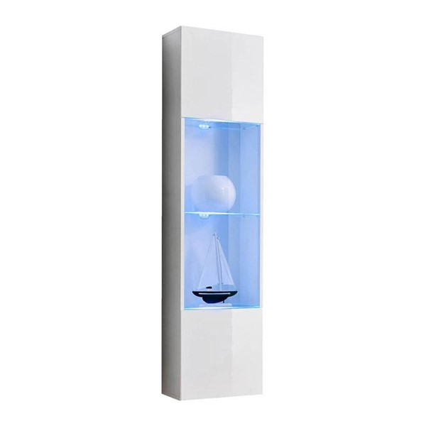 Meble Furniture Fly Type 42 White Wall Mounted Floating Bookcase Cabinet MBL-FLY42WHITE
