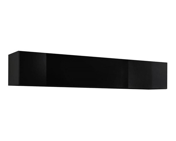 Meble Furniture Fly Type 50 Black Wall Mounted Floating Hanging Media Cabinets MBL-FLY50-BC-VAR