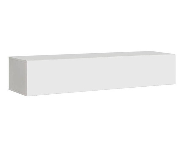 Meble Furniture Fly Type 50 White Wall Mounted Floating Hanging Media Cabinet MBL-FLY50WHITE