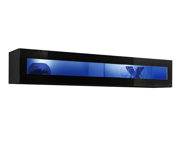Meble Furniture Fly Type 51 Black Wall Mounted Floating Hanging Media Cabinet MBL-FLY51BLACK