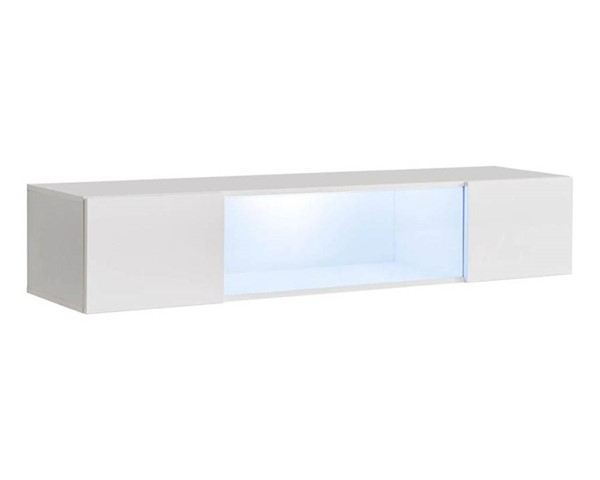 Meble Furniture Fly Type 52 White Wall Mounted Floating Hanging Media Cabinet MBL-FLY52WHITE