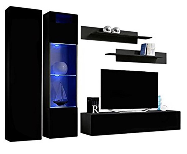 Meble Furniture Fly A 30TV Black Wall Mounted Floating A5 Entertainment Centers MBL-FLYA5-30-ENT-S-VAR