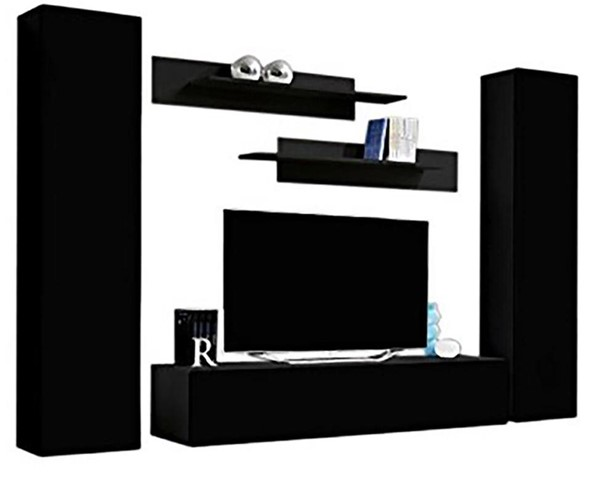 Meble Furniture Fly A 30TV Black Wall Mounted Floating AB1 Entertainment Centers MBL-FLYAB1-30-ENT-S-VAR