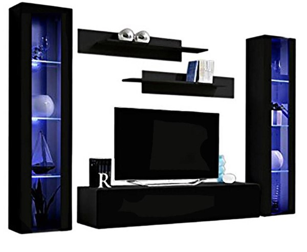 Meble Furniture Fly A 30TV Black Wall Mounted Floating AB2 Entertainment Centers MBL-FLYAB2-30-ENT-S-VAR