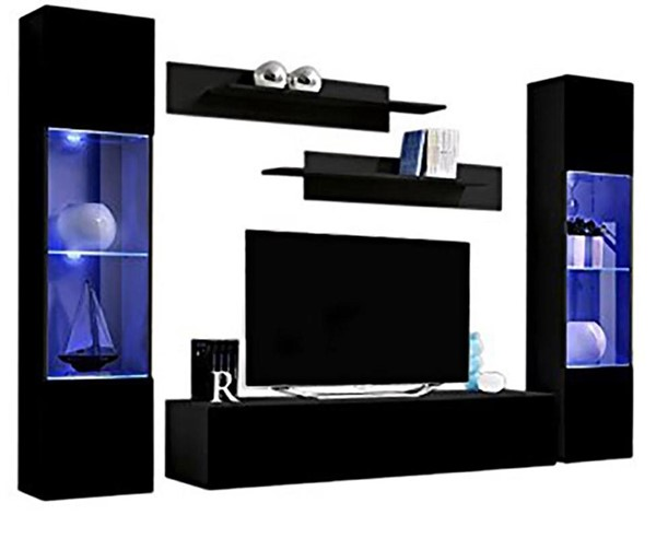 Meble Furniture Fly A 30TV Black Wall Mounted Floating AB3 Entertainment Centers MBL-FLYAB3-30-ENT-S-VAR