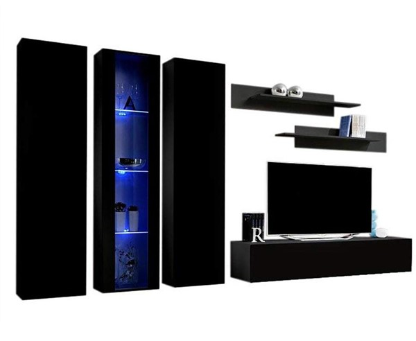 Meble Furniture Fly C 30TV Black Wall Mounted Floating C4 Entertainment Centers MBL-FLYC4-30-ENT-S-VAR