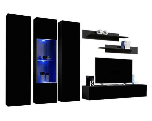 Meble Furniture Fly C 30TV Black Wall Mounted Floating C5 Entertainment Centers MBL-FLYC5-30-ENT-S-VAR