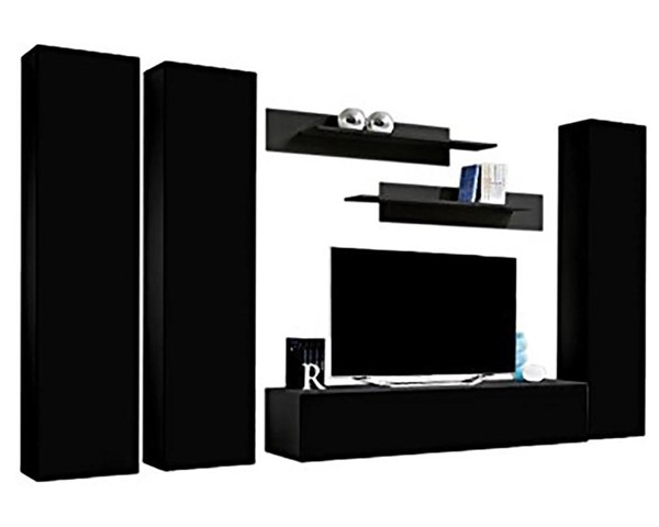 Meble Furniture Fly C 30TV Black Wall Mounted Floating CD1 Entertainment Centers MBL-FLYCD1-30-ENT-S-VAR