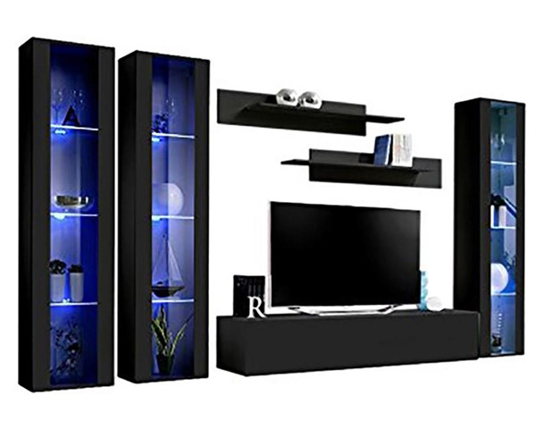 Meble Furniture Fly C 30TV Black Wall Mounted Floating CD2 Entertainment Centers MBL-FLYCD2-30-ENT-S-VAR