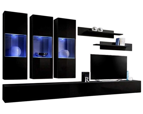 Meble Furniture Fly E 30TV Black Wall Mounted Floating E2 Entertainment Centers MBL-FLYE2-30-ENT-S-VAR