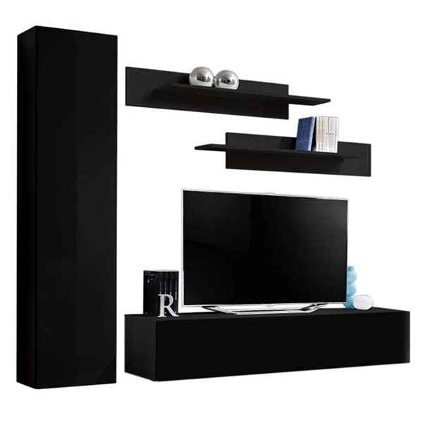 Meble Furniture Fly G 30TV Black Wall Mounted Floating G1 Entertainment Centers MBL-FLYG1-30-ENT-S-VAR