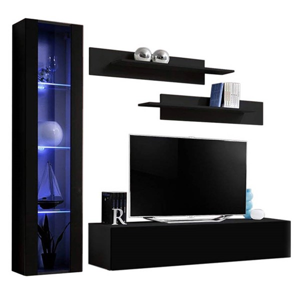 Meble Furniture Fly G 30TV Black Wall Mounted Floating G2 Entertainment Centers MBL-FLYG2-30-ENT-S-VAR