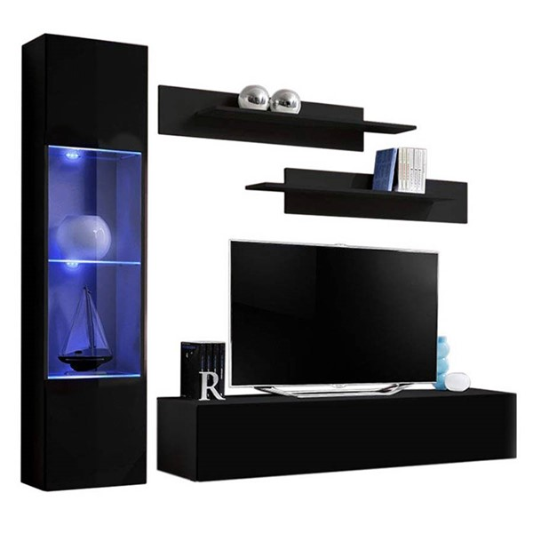 Meble Furniture Fly G 30TV Black Wall Mounted Floating G3 Entertainment Centers MBL-FLYG3-30-ENT-S-VAR