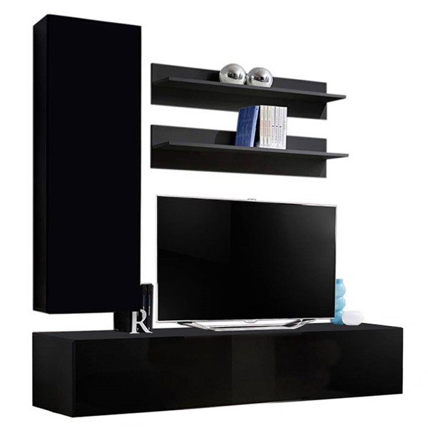 Meble Furniture Fly H 30TV Black Wall Mounted Floating H1 Entertainment Centers MBL-FLYH1-30-ENT-S-VAR