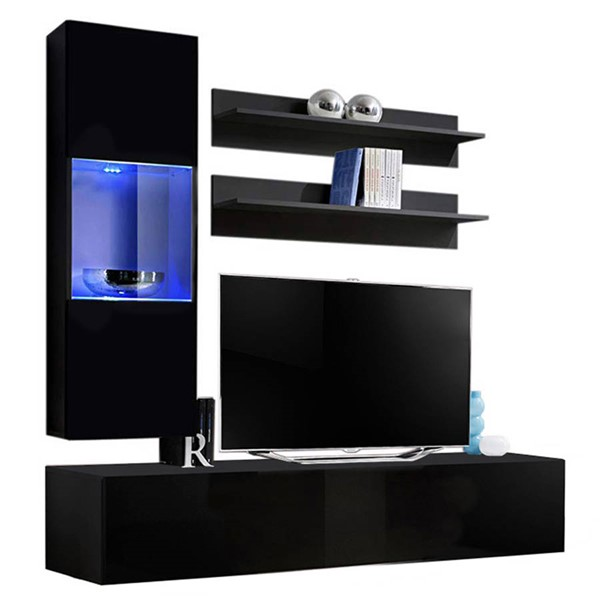 Meble Furniture Fly H 30TV Black Wall Mounted Floating H3 Entertainment Centers MBL-FLYH3-30-ENT-S-VAR