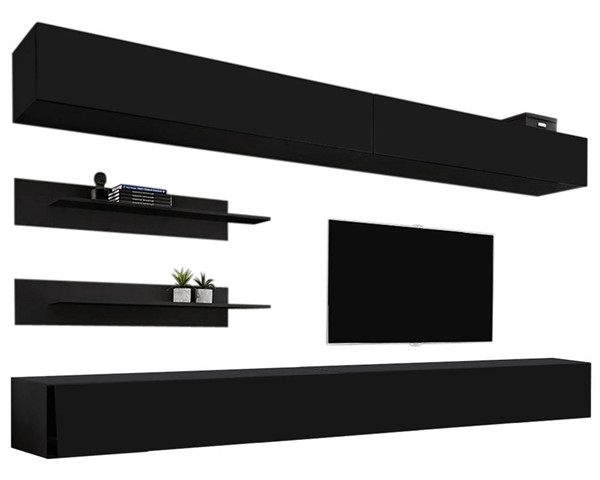 Meble Furniture Fly I 30TV Black Wall Mounted Floating I1 Entertainment Centers MBL-FLYI1-30-ENT-S-VAR