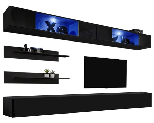 Meble Furniture Fly I 30TV Black Wall Mounted Floating I3 Entertainment Centers MBL-FLYI3-30-ENT-S-VAR