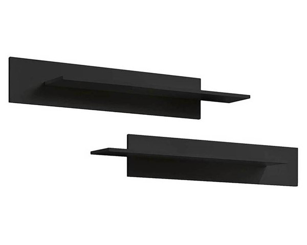 Meble Furniture Fly Type MX Black Wall Mounted Floating 2pc Shelf MBL-FLYMXSHELFBLACK