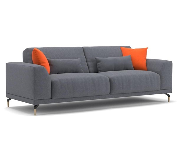 Meble Furniture Meta Gray Sofa with 4 Pillows MBL-METASOFAGRAY