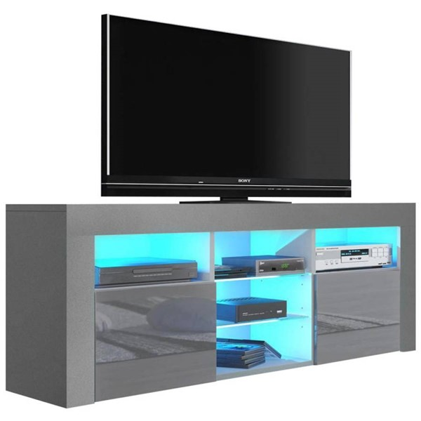 Meble Furniture Milano 145 Gray 58 Inch TV Stand MBL-MILANO145GRAY