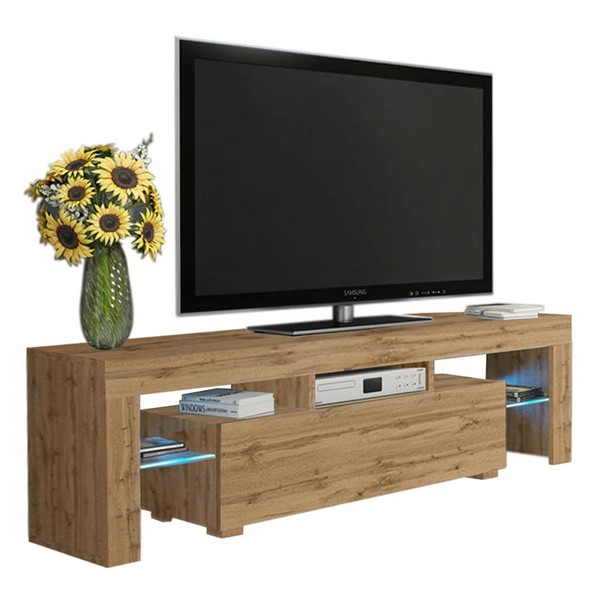 Meble Furniture Milano 160 Oak 63 Inch TV Stand MBL-MILANO160OAK
