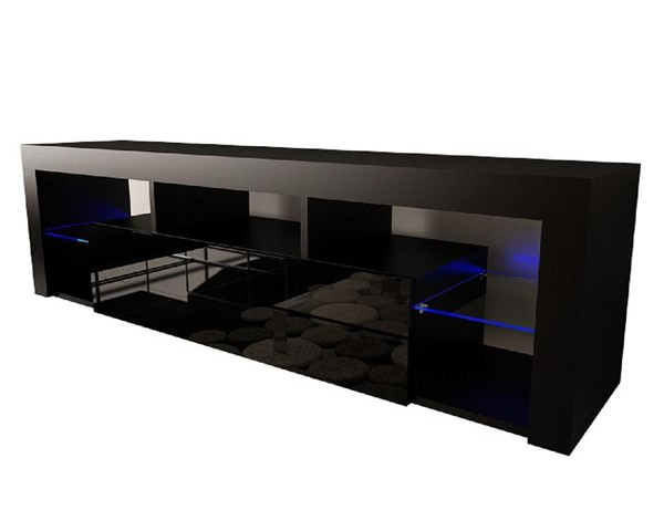 Meble Furniture Milano 160 Black Wall Mounted Floating 63 Inch TV Stands MBL-MILANO160WALLMOUNTED-TV-VAR